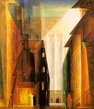 Lyonel_Feininger_Barfüsserkirche_II_1926
