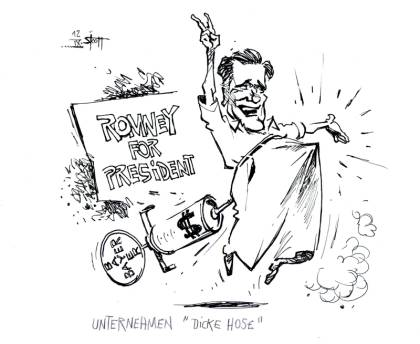 BAYERRomney-Karikatur